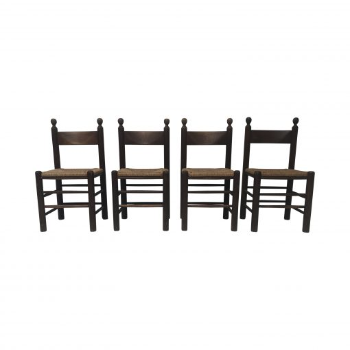 Rustic chairs Charles Dudouyt brutalist